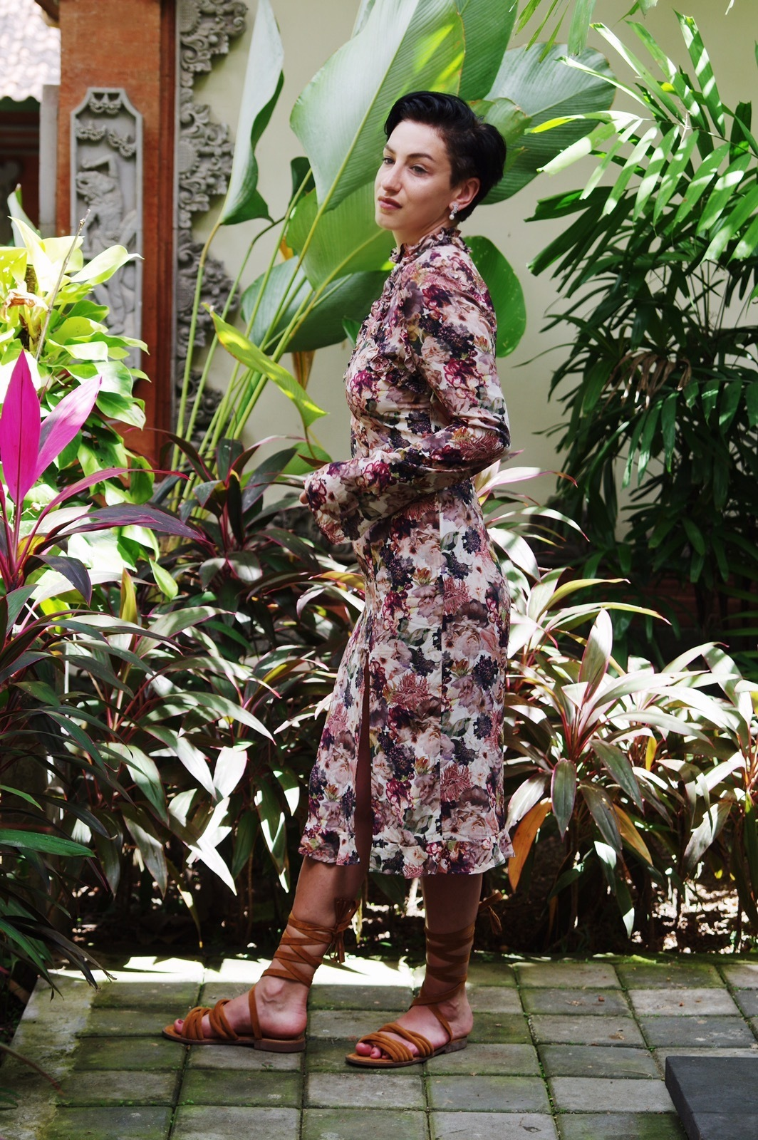 Summer outfit , floral dress