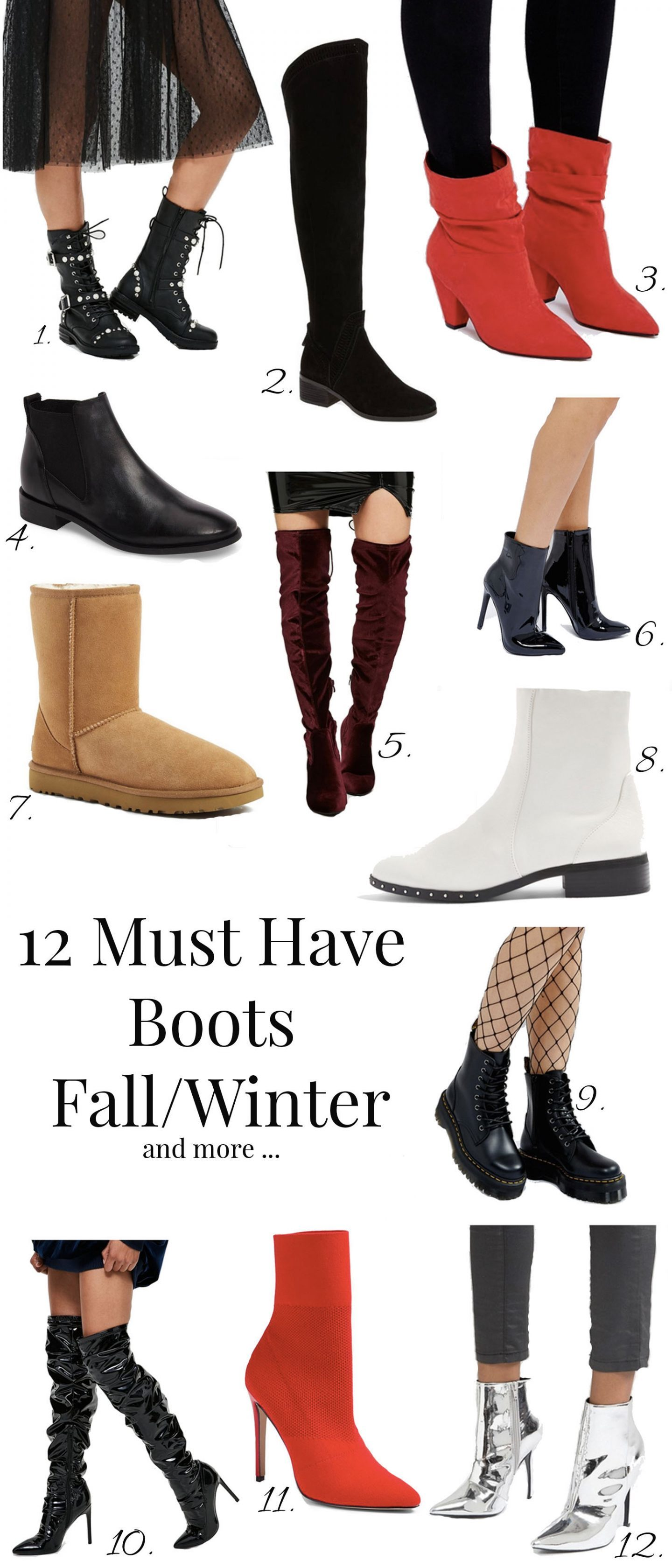 12 must have boots fall winter 2017