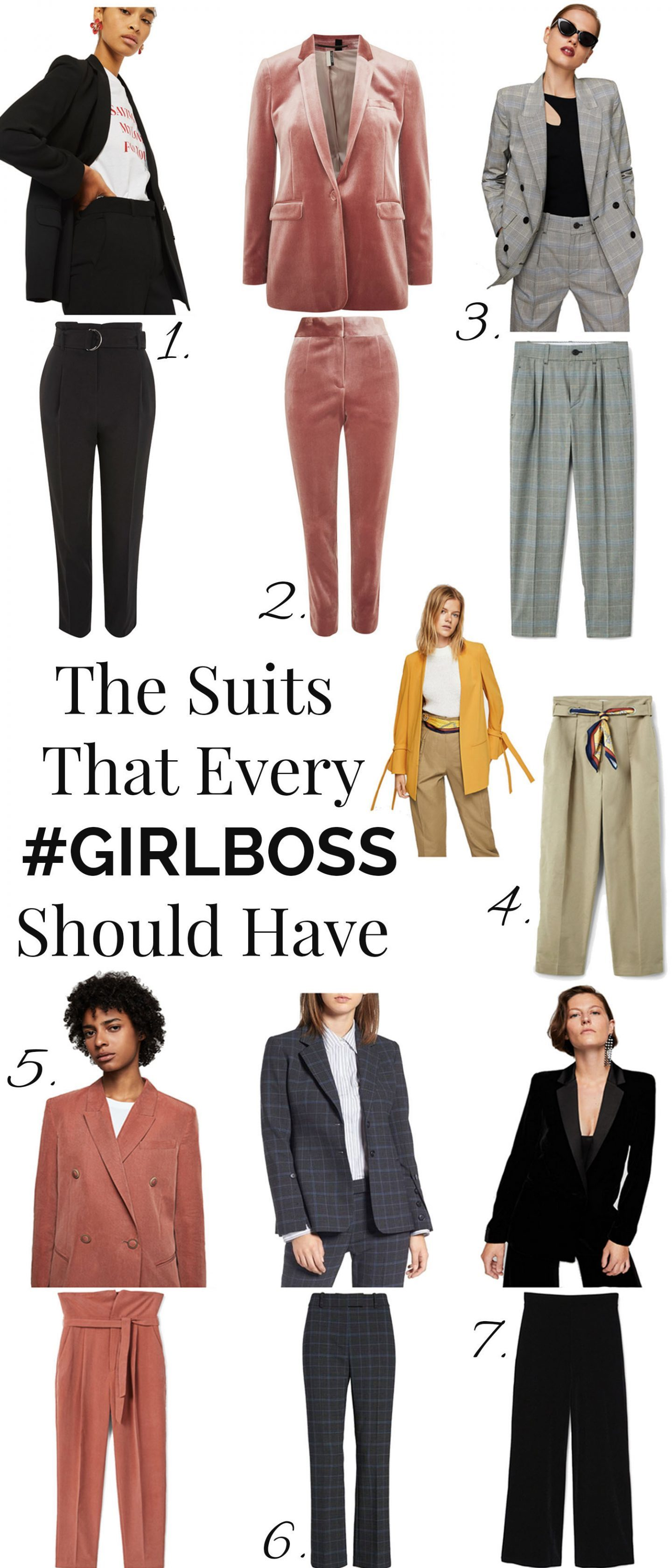 suits that every girlboss must have, suits fall fashion, work wear, blazer, trousers, women fall fashion, what to wear at work