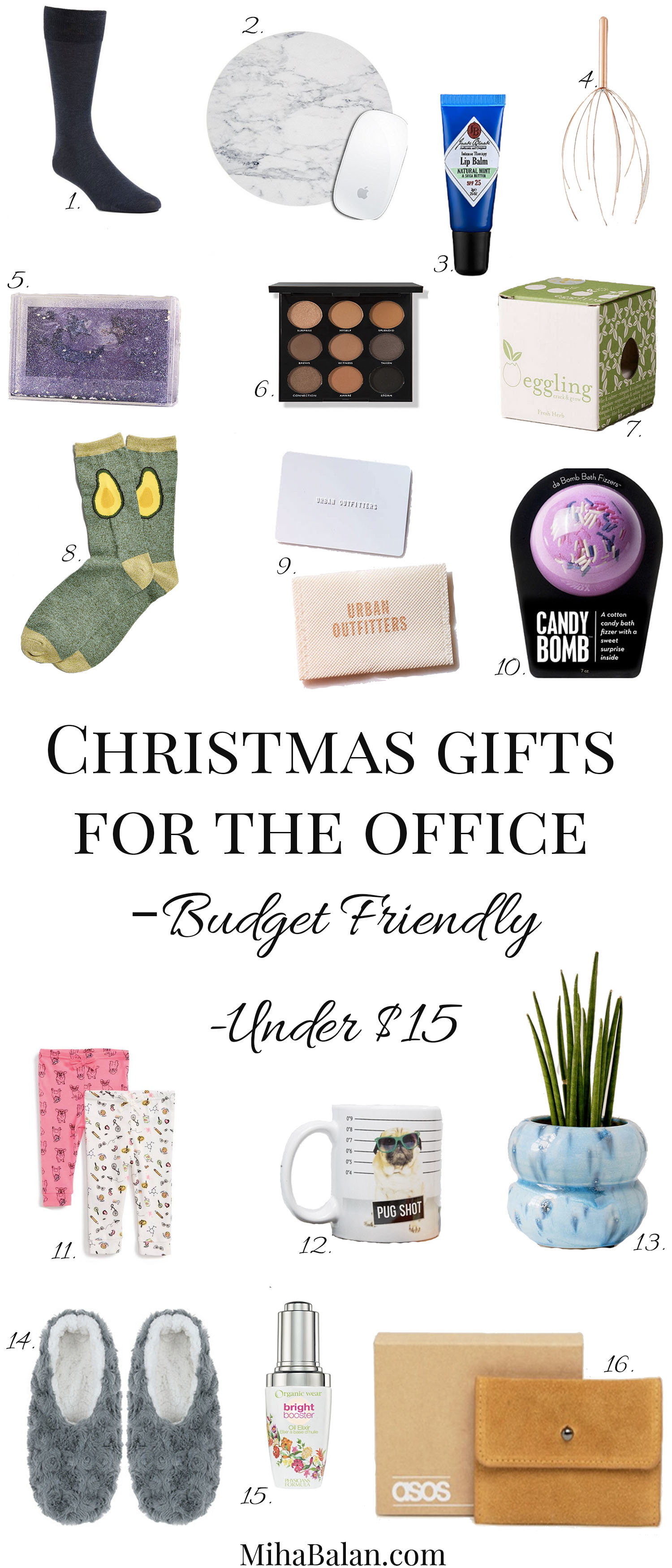 Christmas gifts for under $15 for coworkers, office, friends, best gifts, shop online for office