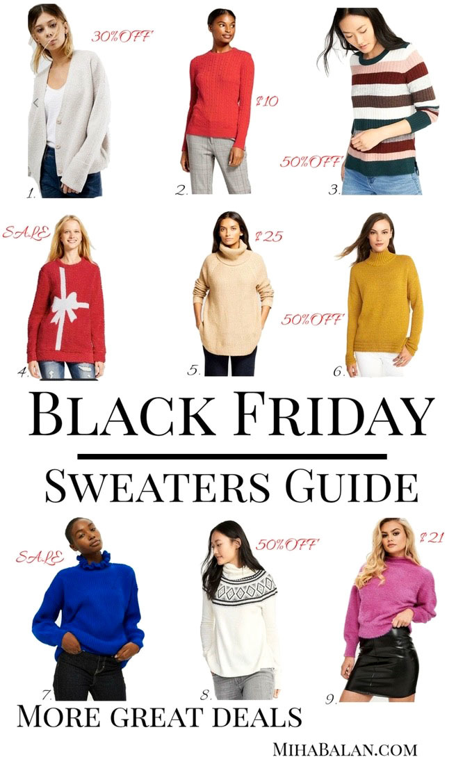 black friday sweater guide cyber monday deals, winter fashion, women fashion