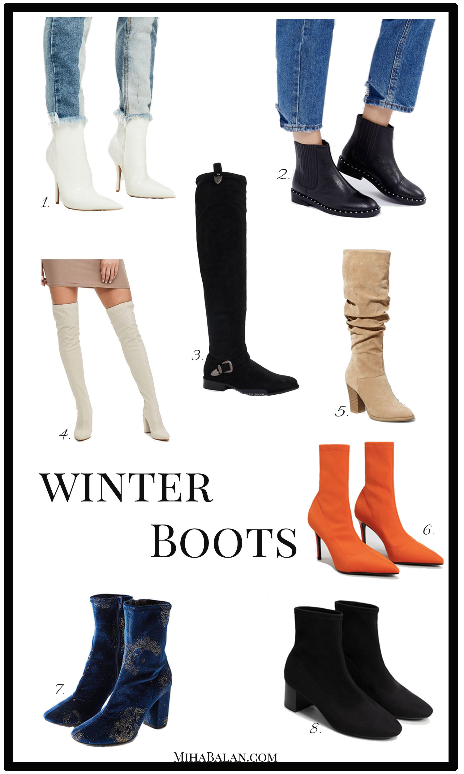 boots winter 2017 2018, shoes, ankle boots, flat boots, high heel boots