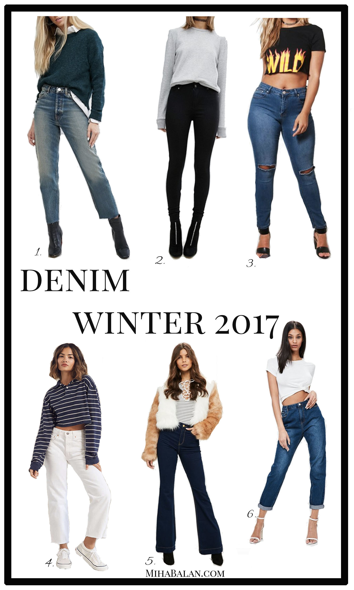 denim winter women fashion outfits 2017 2018