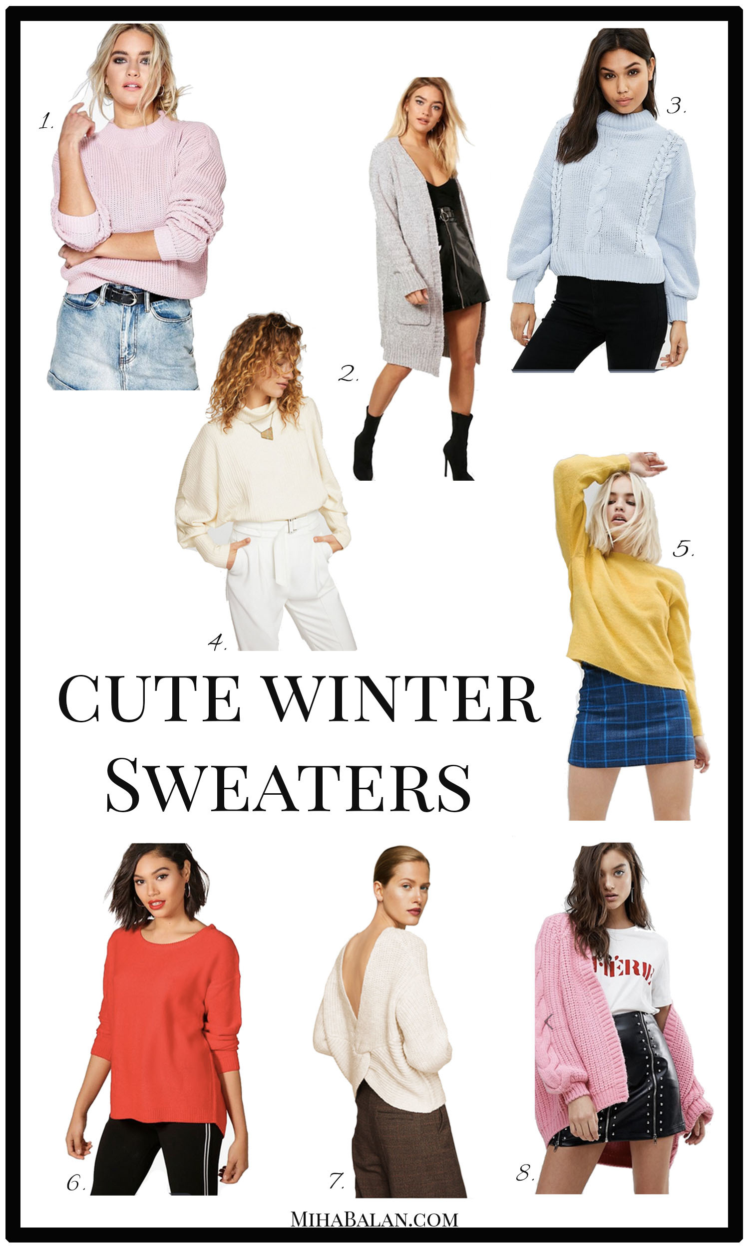 winter cute sweaters, knitwear, women sweaters, winter sweaters