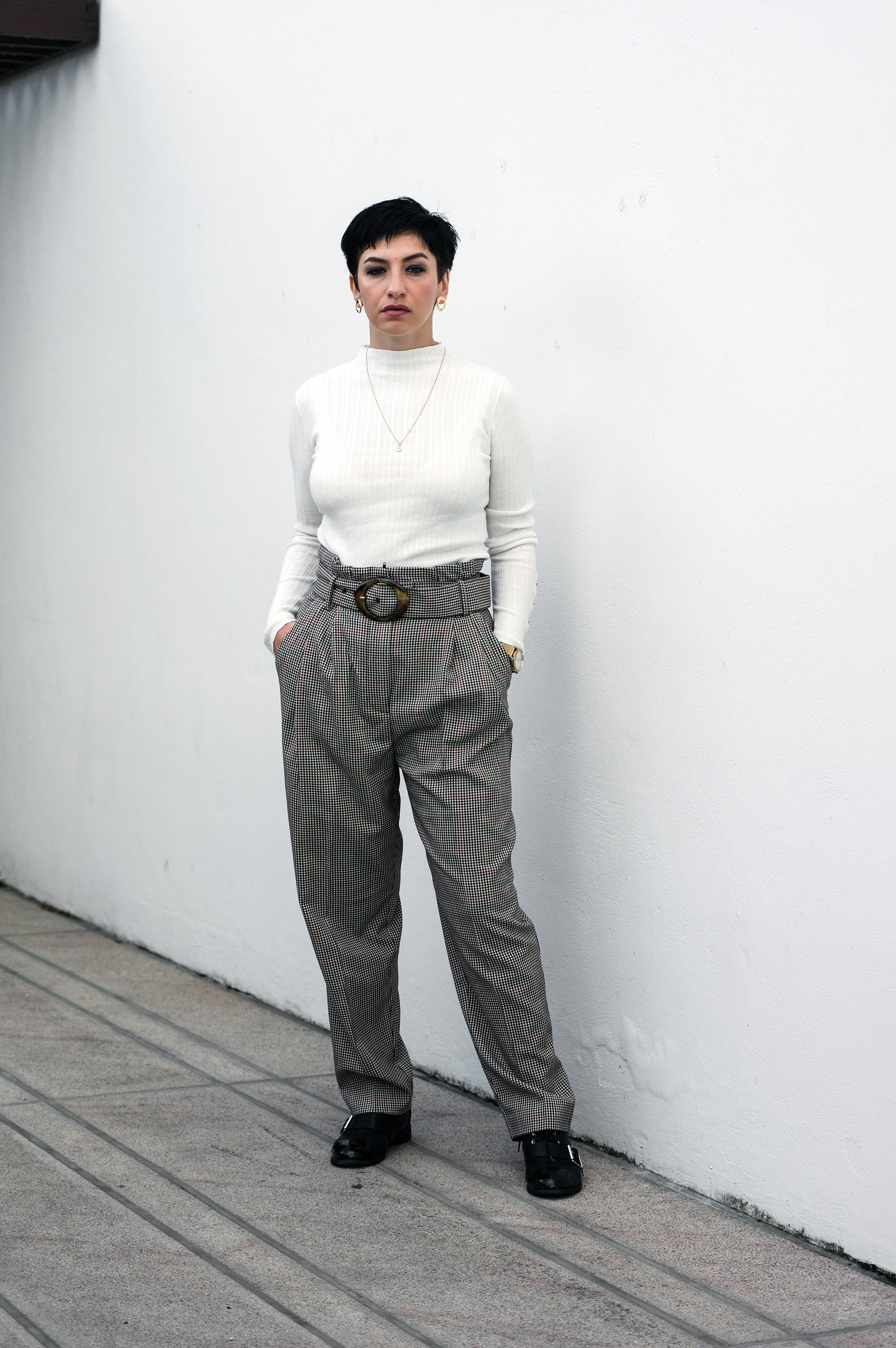 work wear outfit, women trousers, fall winter fashion outfits, look of the day, style blogger, mihabalan.com