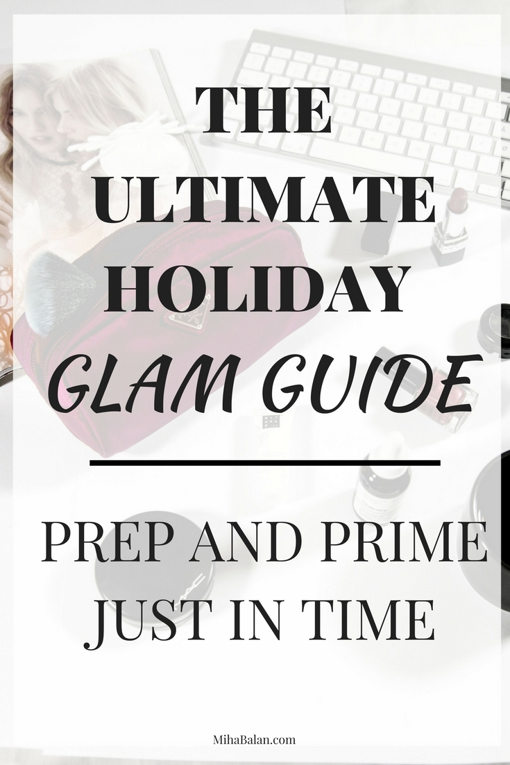 PREP AND PRIMEJUST IN TIME, holiday glam look, New Years Eve makeup
