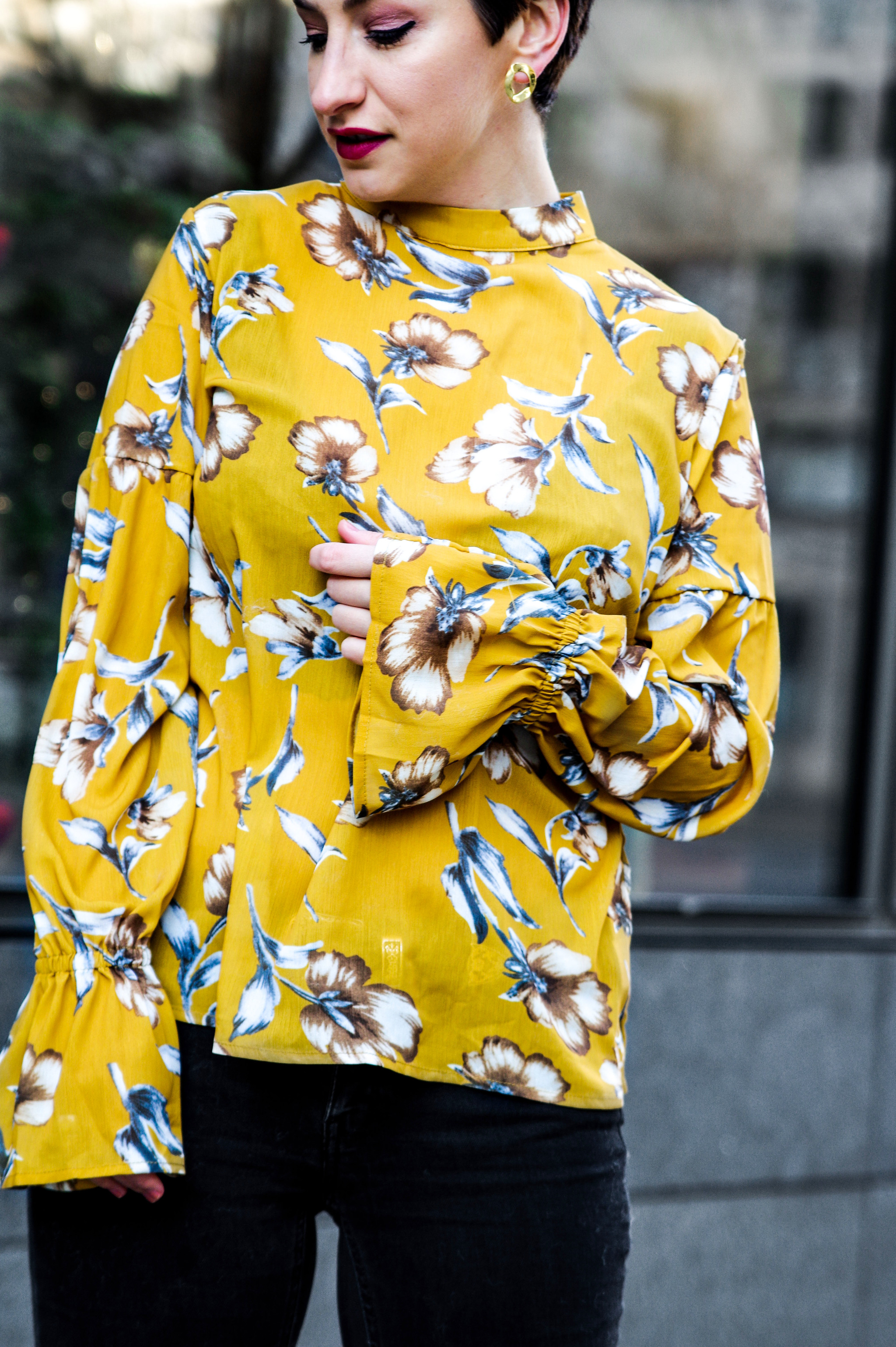 floral top, floral blouse, pretty top, women fashion