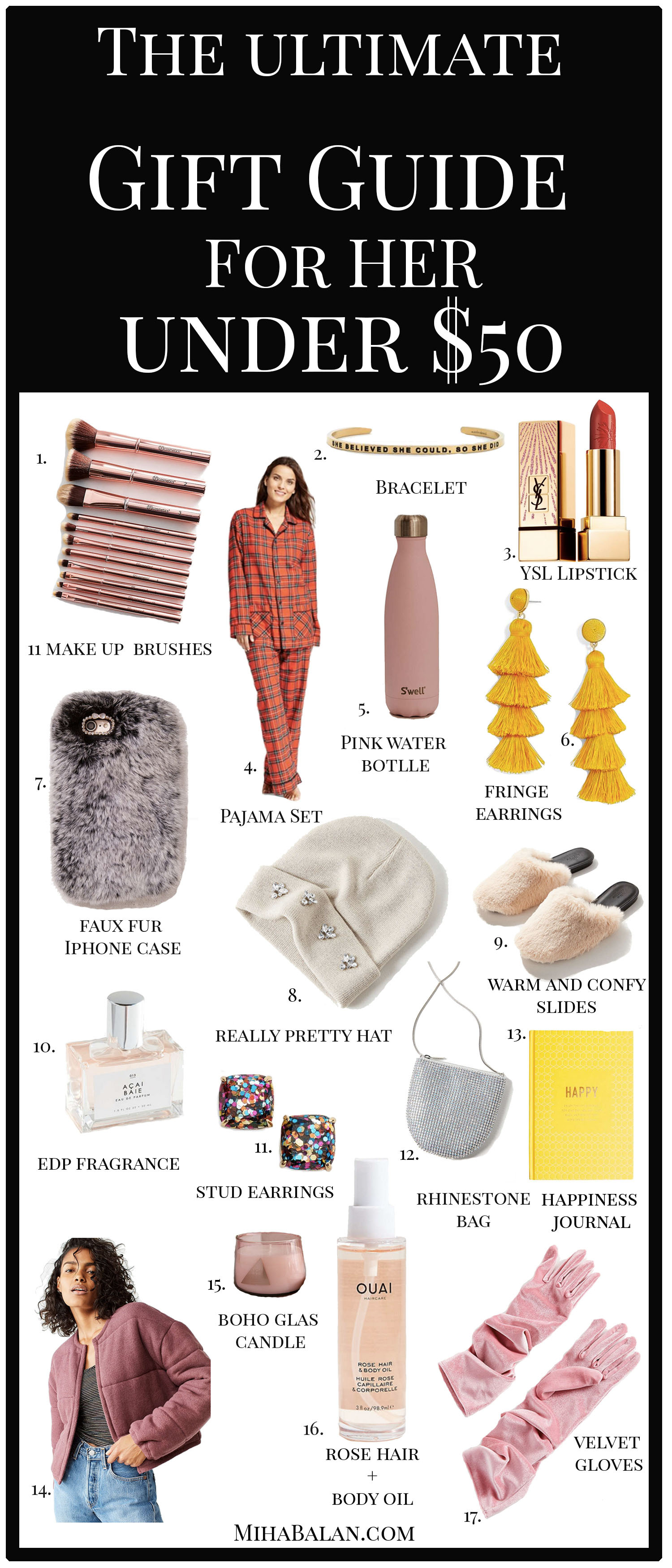 the gift guide for her under $50the gift guide for her under $50