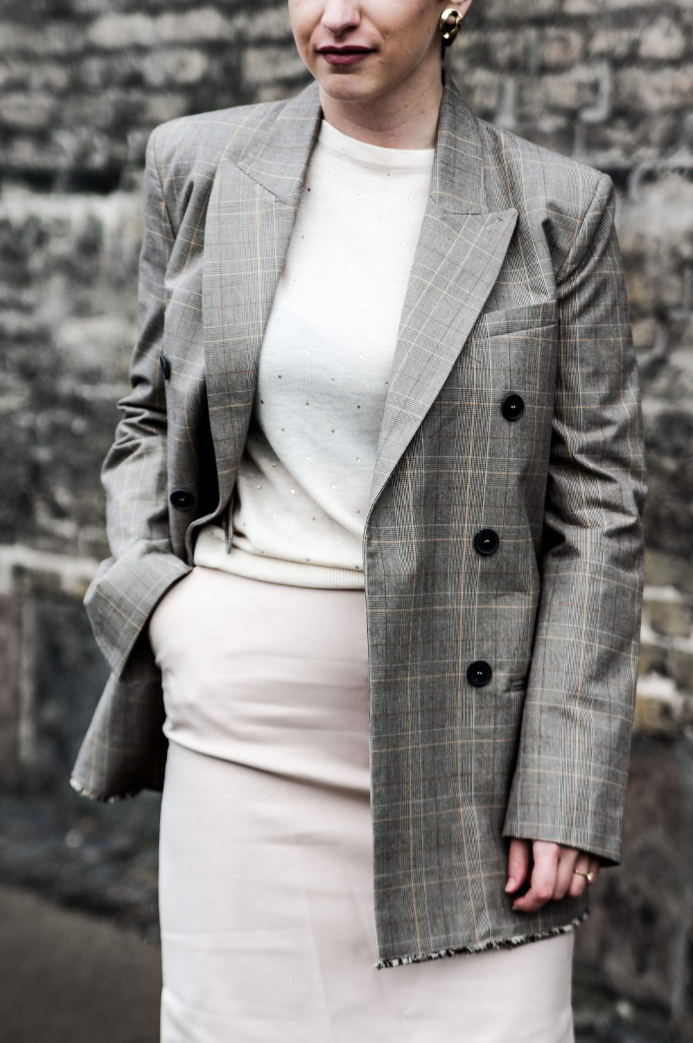 Structured women blazer, mango blazer, women blazer, work wear outfit, winter spring 2018 outfit, women fashion 2018 neutral winter outfit