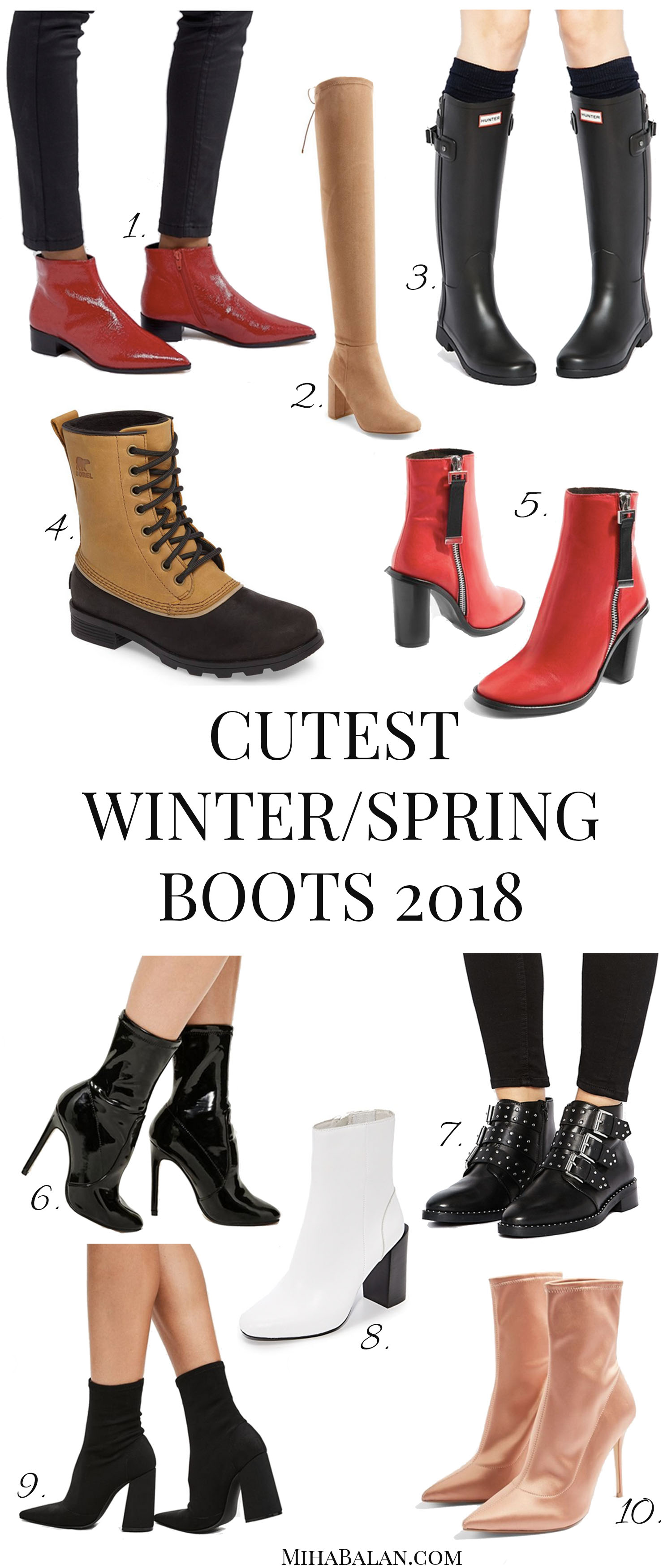 Women boots winter spring ankle boots, over the knee boots, sock boots, hunter boots, waterproof boots, high heel boots, red boots, women shoes 2018