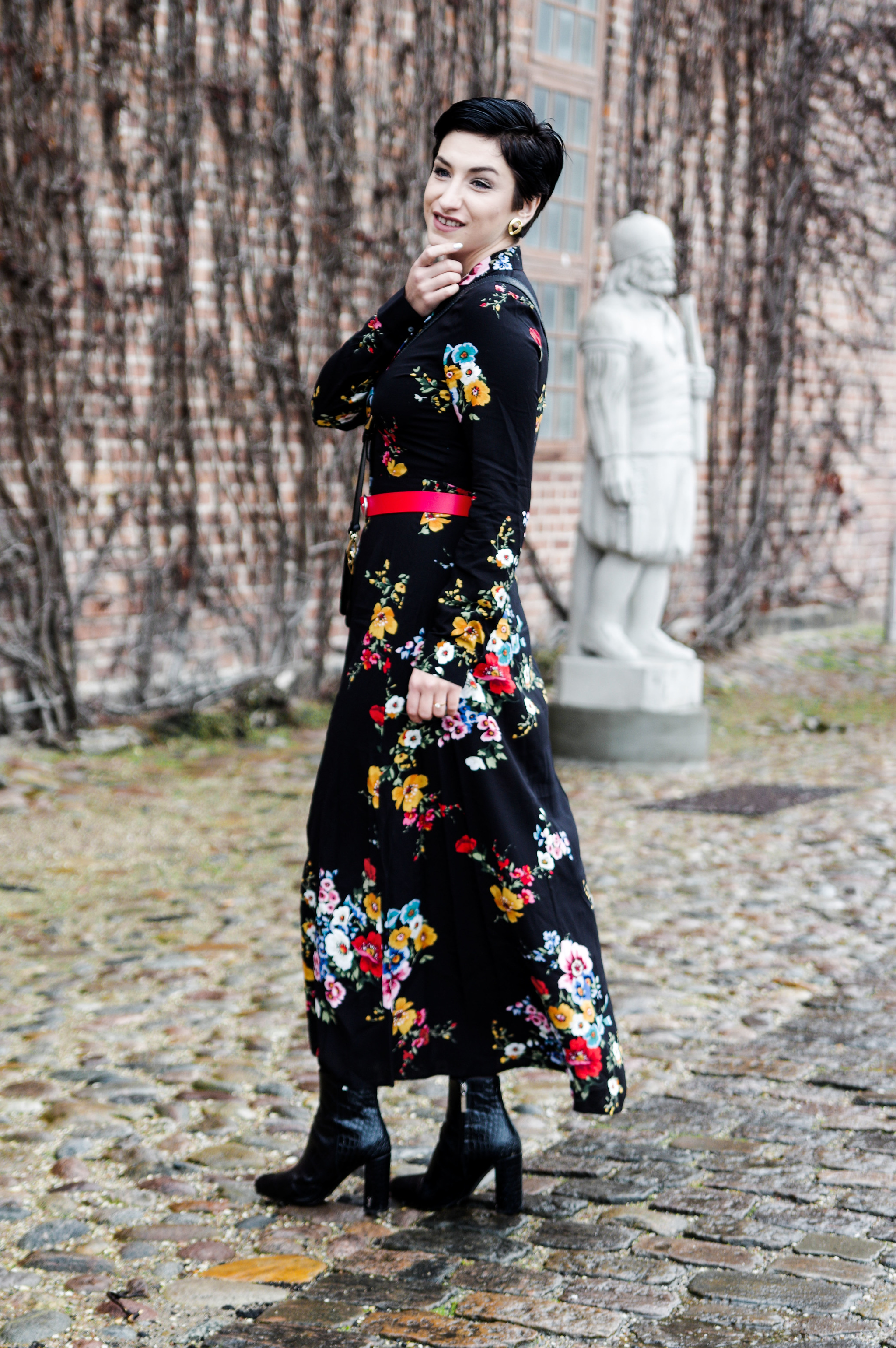 floral long dress Stradivarius, how to have a great start of the year, winter fashion, mihabalan.com
