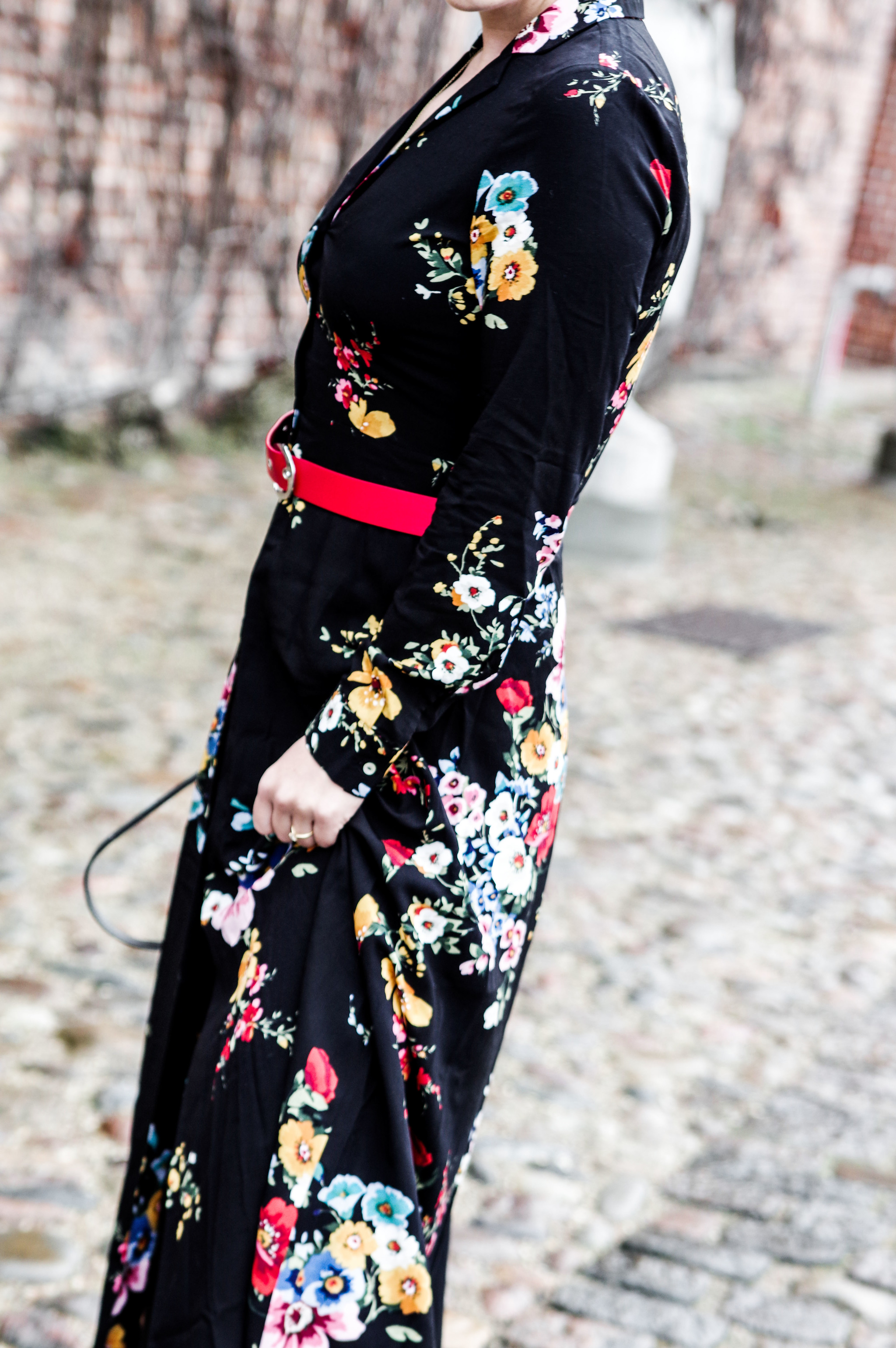 floral long dress stradivarius mihabalan.com 1