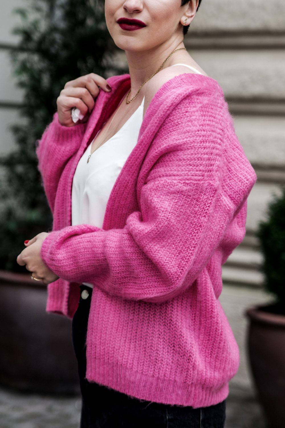 spring outfit,pink cardigan, sweater weather, white top, beauty, spring fashion 2018- 3