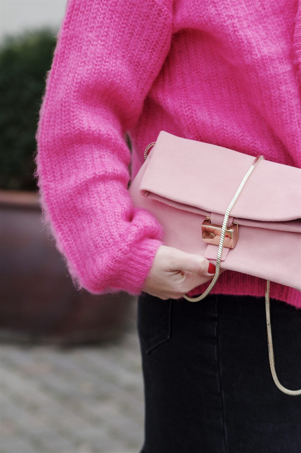 women bag, pink cardigan and pink bag, spring outfit, sweater weather, 1