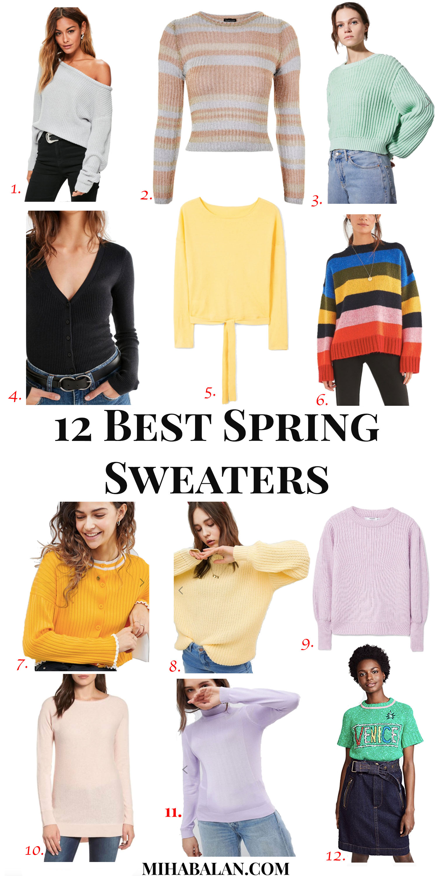 12 best spring sweaters