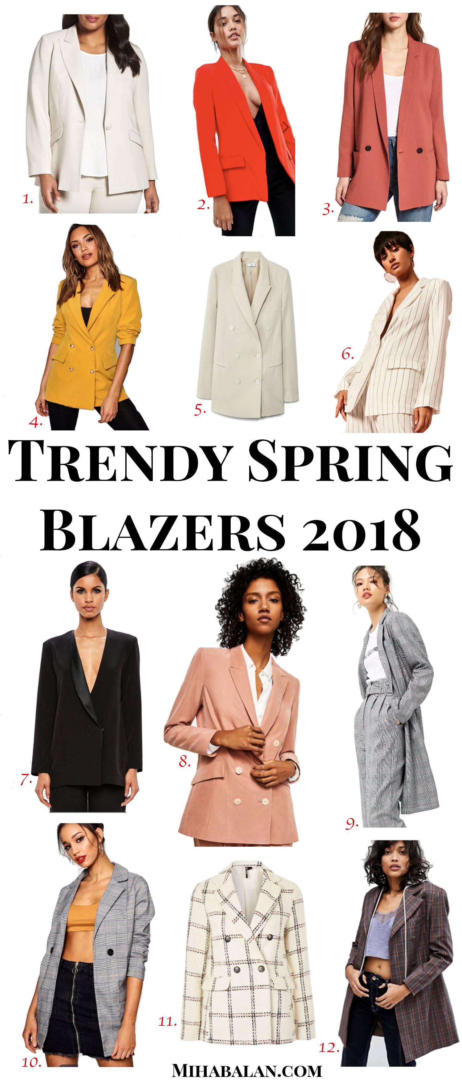 trendy spring blazers 2018