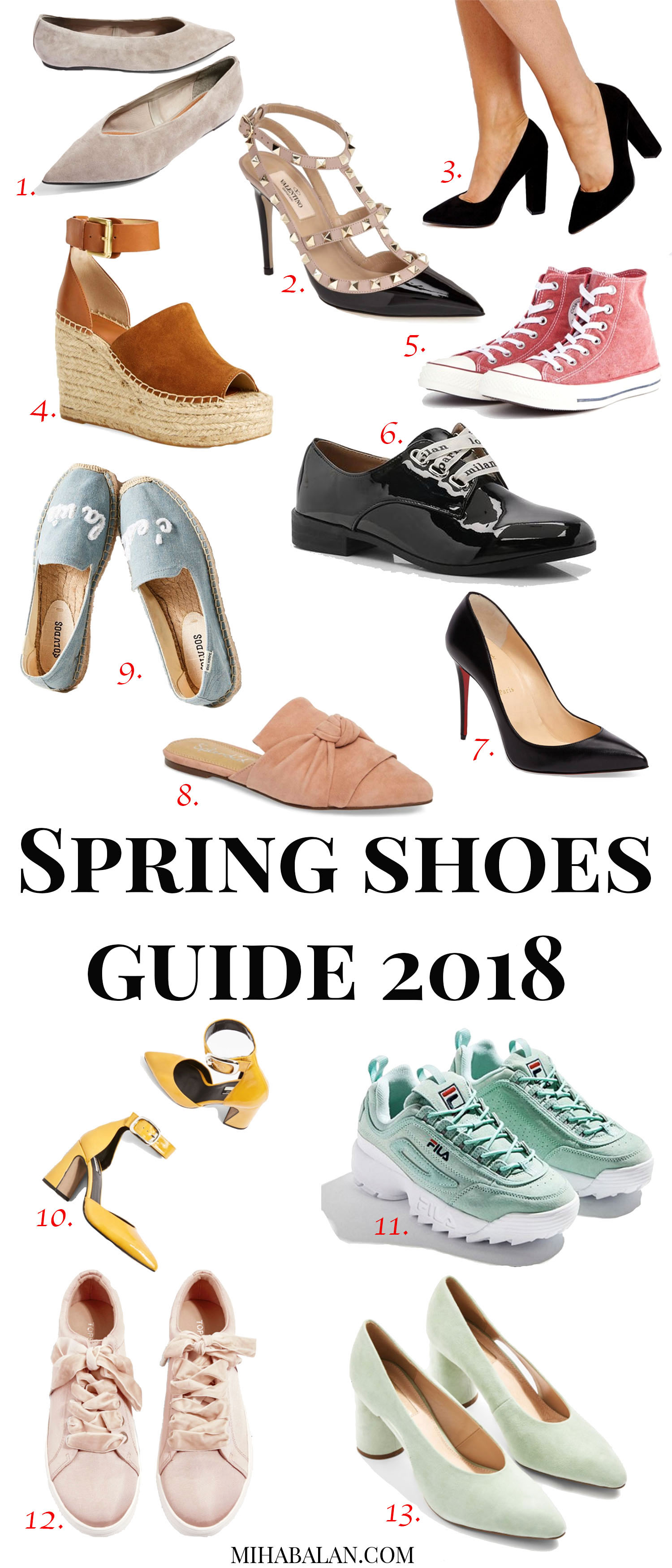 your ultimate spring guide to shoes 2018