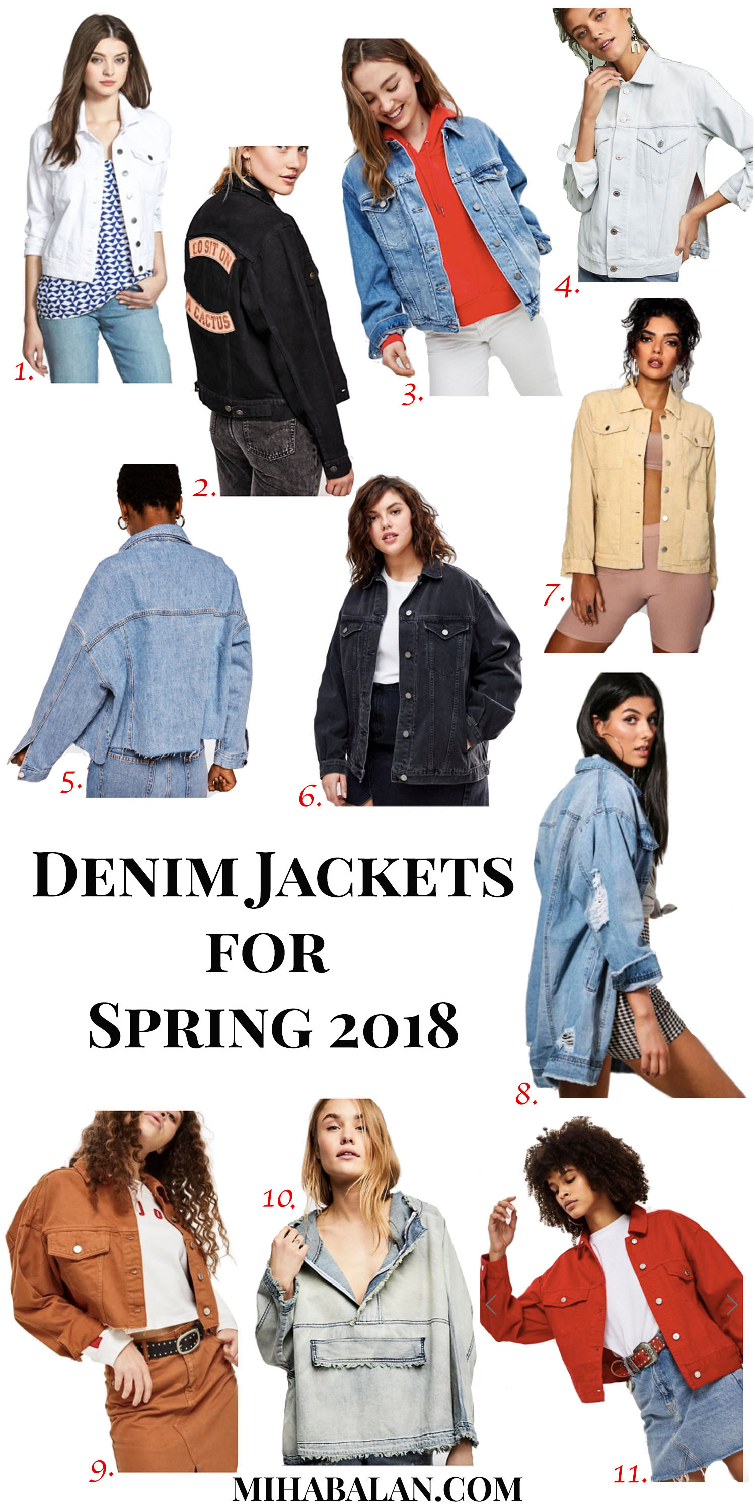 denim jackets for spring 2018