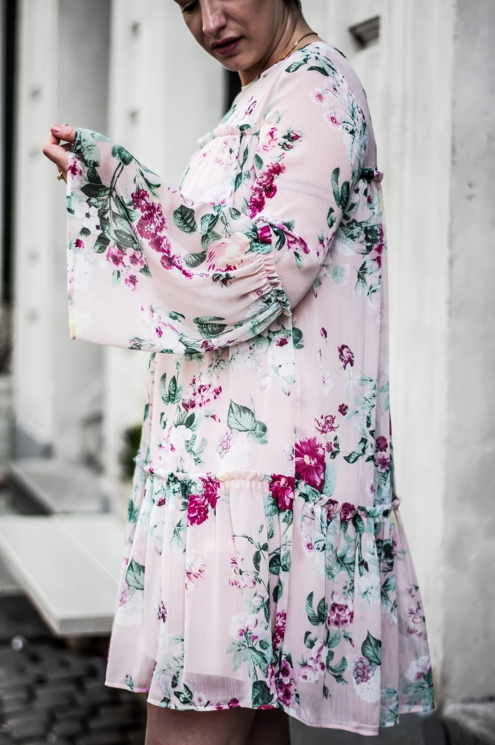 spring summer 2018 floral dress, pink dress, casual dress 1
