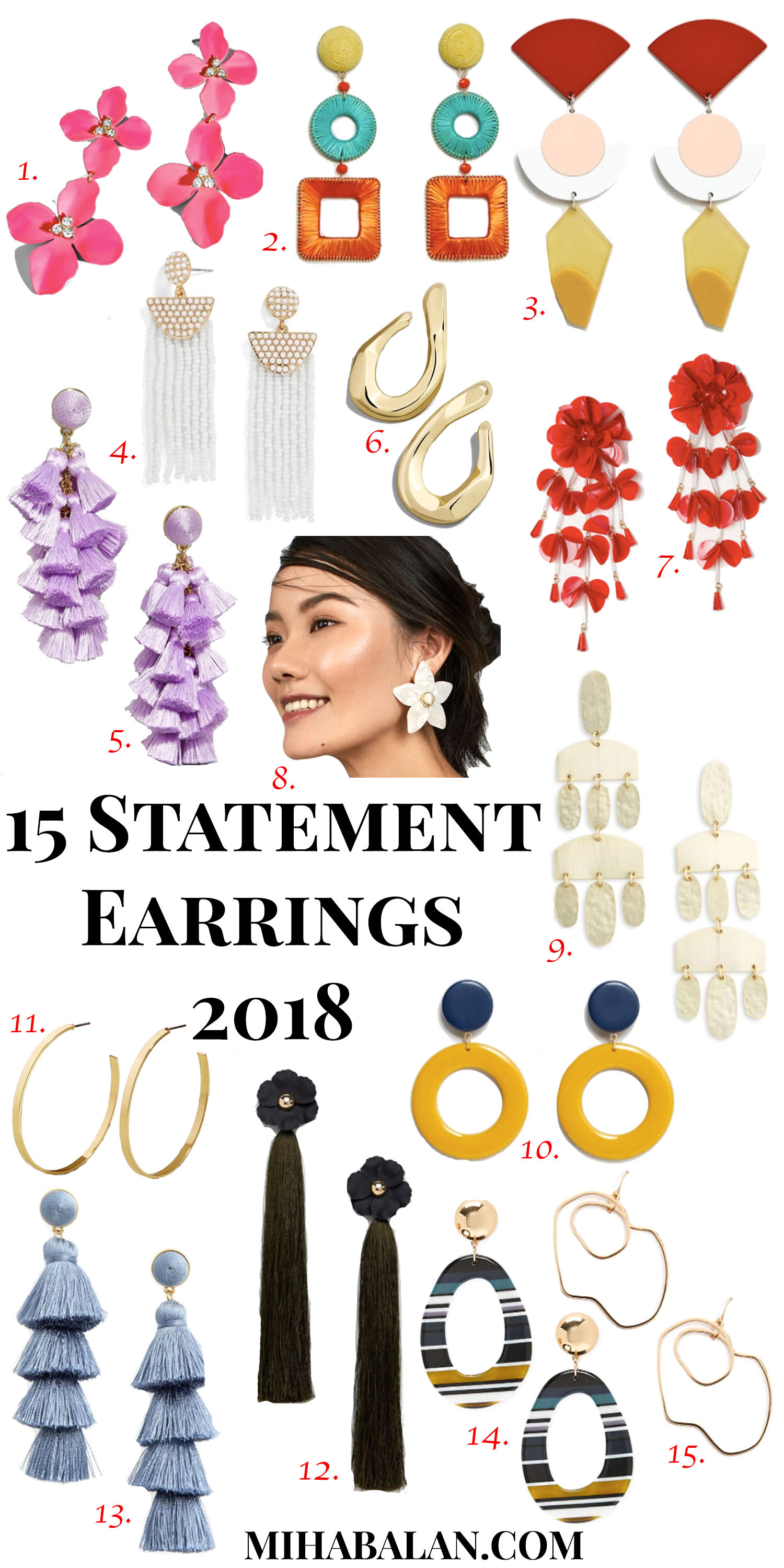 15 statement earrings, bold earrings, golden earrings, accessories, women earrings, jewellery