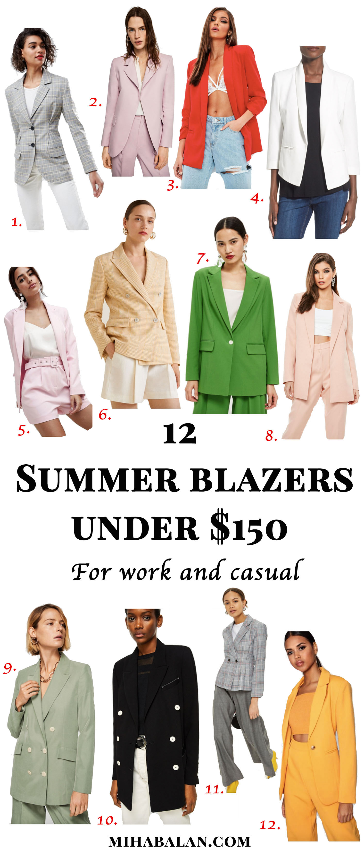 12 summer blazers for work and casual under $150, work wear, stylish work wear, summer fashion. summer style