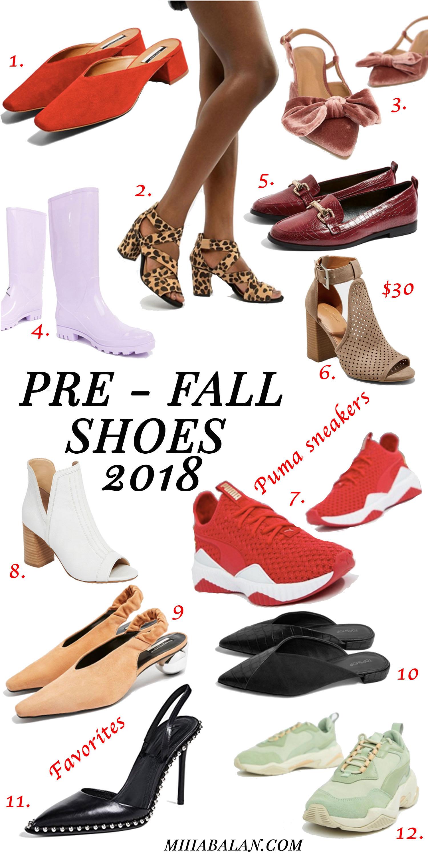 Pre - Fall shoes, fall shoes, woman shoes, shoes to wear fall 2018