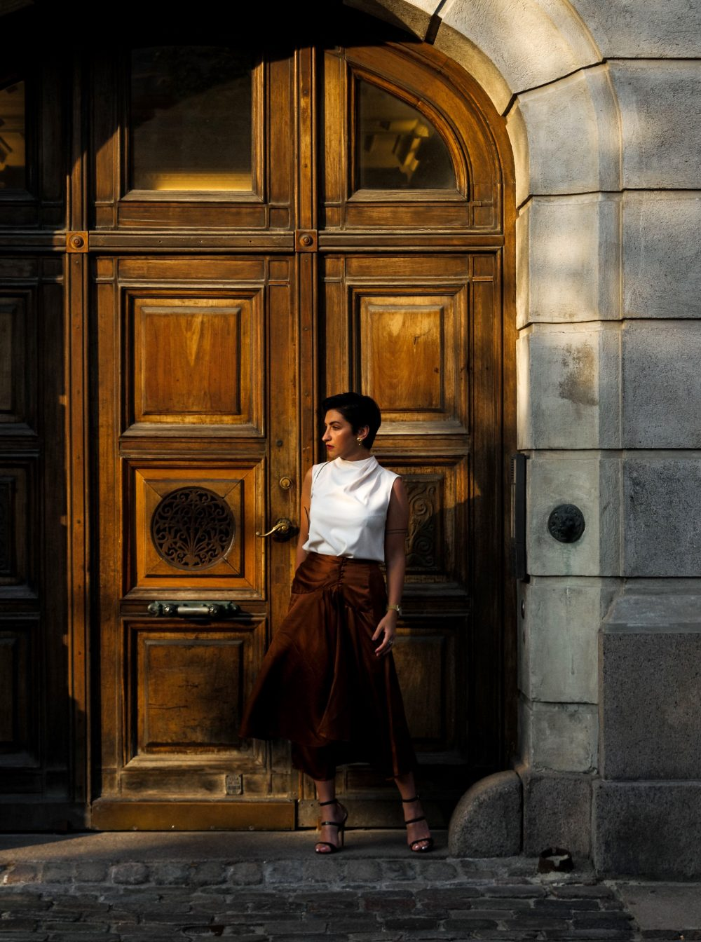 stylish work wear outfit for pre-fall and fall, fall fashion, streetstyle