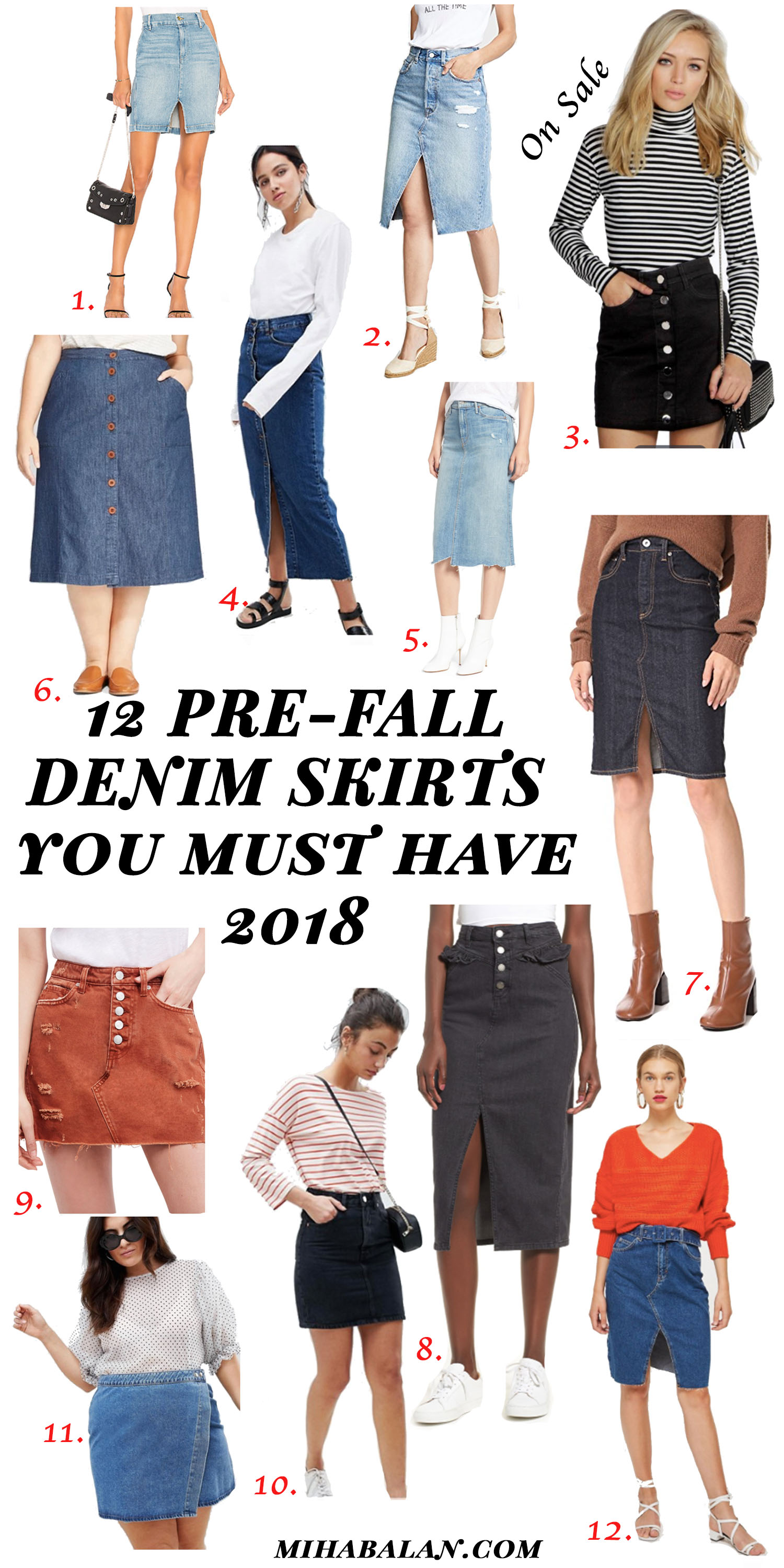 the pre-fal denim skirts you must have this season2018, denim outfit, work wear outfit, fall fashion, fall outfit, what to wear in fall, fall work wear outfit, scandinavian style, denim wear