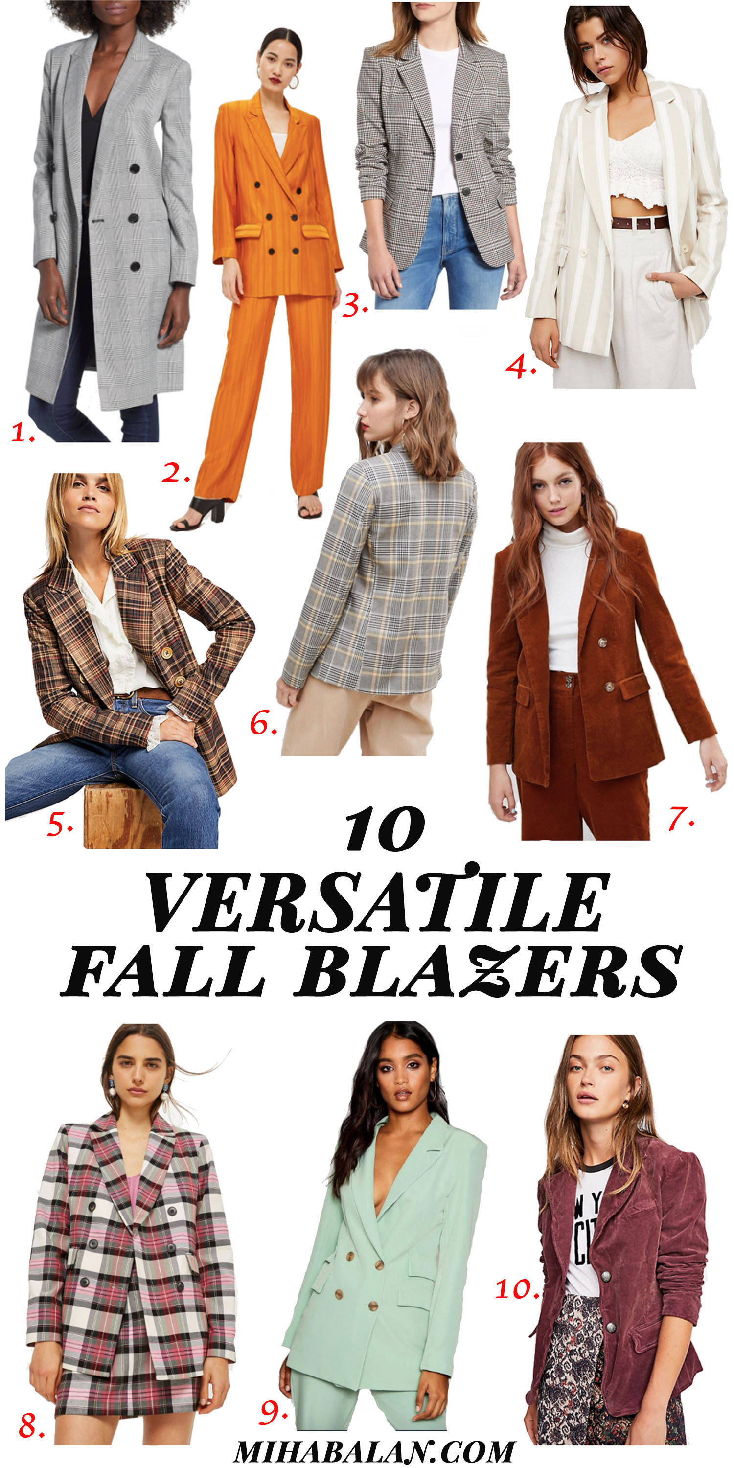 10 versatile blazers for fall 2018, fall fashion, fall outfit idea