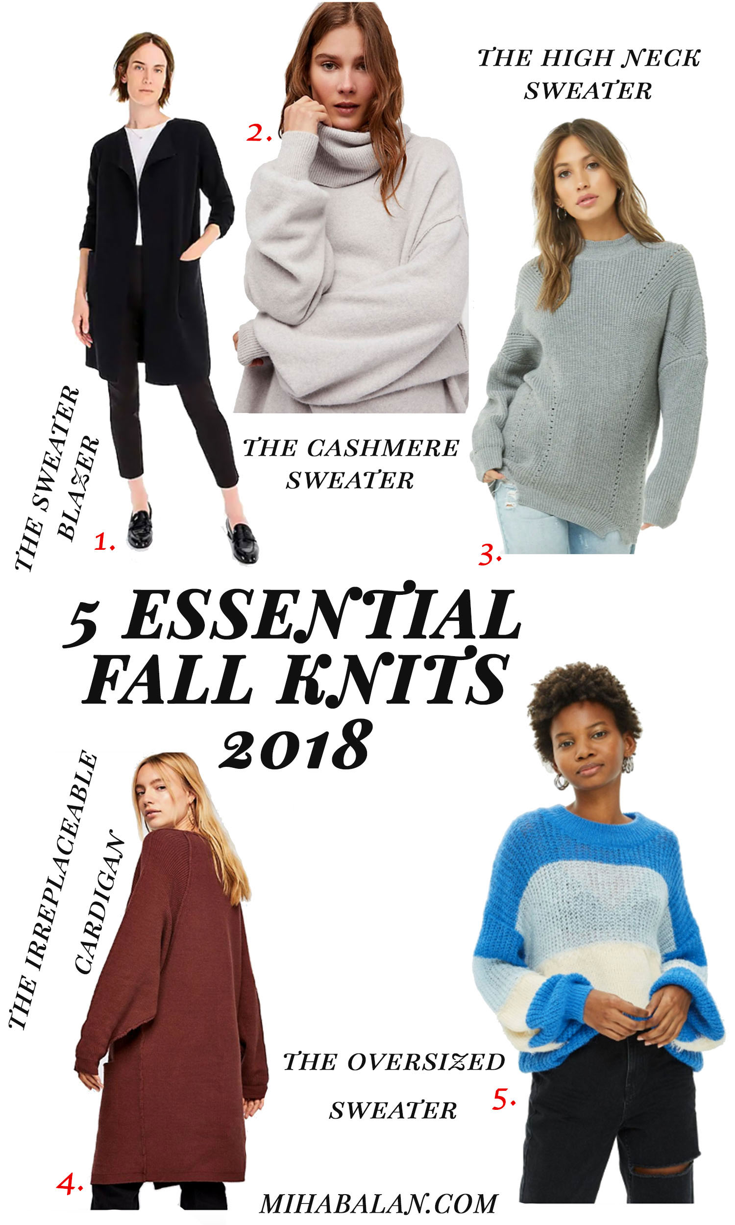 5 Essential fall knits you must have 2018,knitwear, sweaters, fall fashion, fall essentials